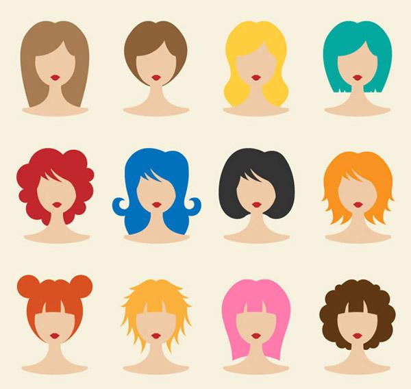 人物,女子,头像,发型,矢量图,ai格式 下载文件特别说明:本站所有资源