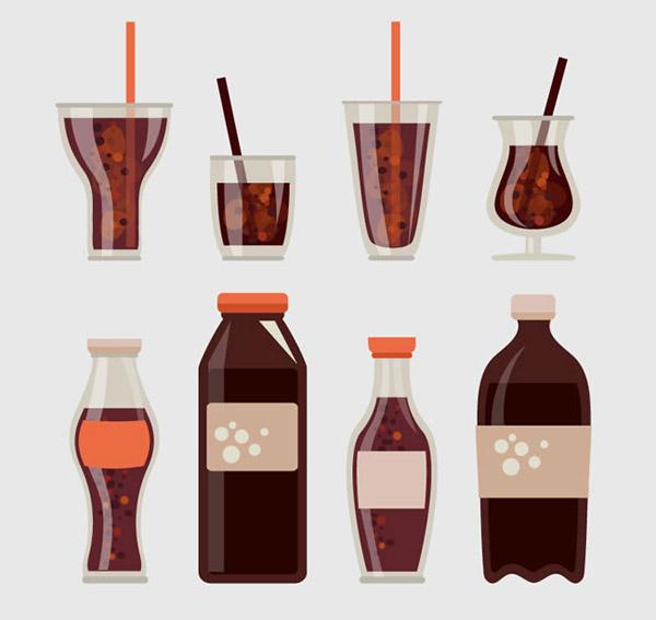 可乐饮料矢量