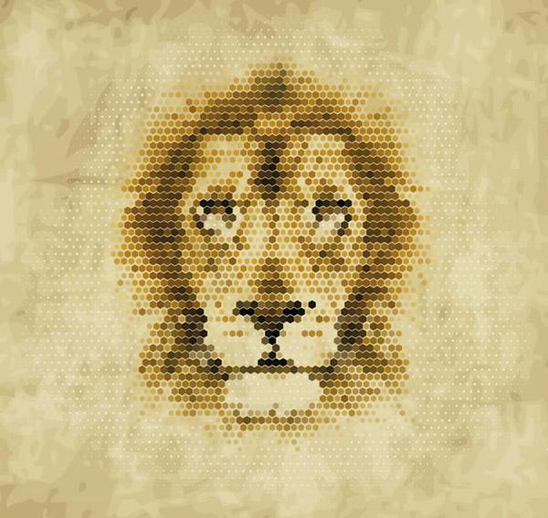 素材分类: 矢量野生动物所需点数: 0 点 关键词: 狮子像素头像矢量