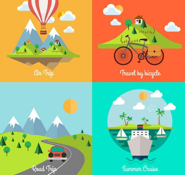 0 点 关键词: 卡通风景设计矢量素材下载,雪山,风景,热气球,农场