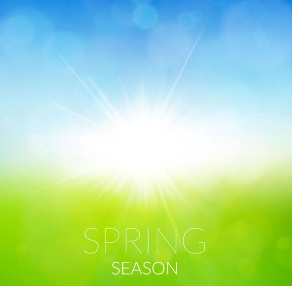 素材分类: 矢量背景所需点数: 0 点 关键词: 春天阳光草地背景矢量