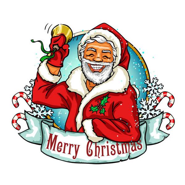 卡通摇铃圣诞老人