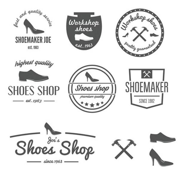 0 点 关键词: 创意复古女鞋标志设计矢量素材,创意鞋子标志,女鞋标志
