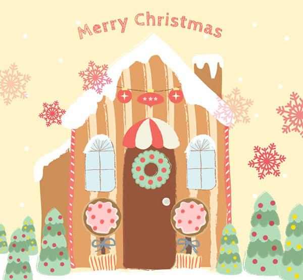 圣诞节小屋贺卡