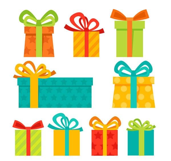 节日用品所需点数: 0 点 关键词: 时尚圣诞节礼物设计矢量素材,包装
