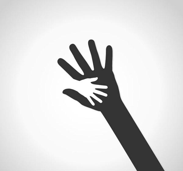 素材分类: 矢量logo图形所需点数: 0 点 关键词: 大手握小手标志设计