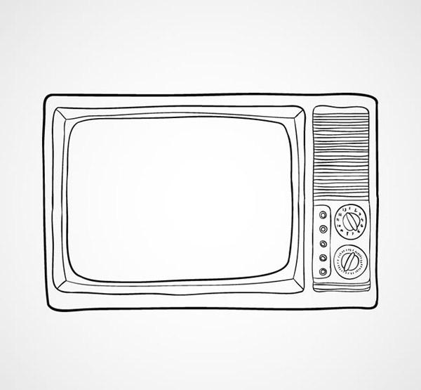 电视机,家电,黑白电视机,矢量图,ai格式 下载文件特别说明:本站所有资