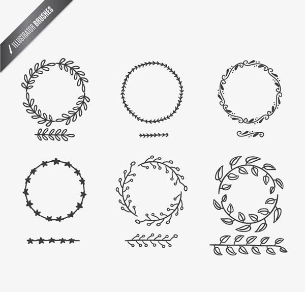 0 点 关键词: 手绘树枝与圆环矢量素材下载,树枝,花纹,星星,树叶,圆环