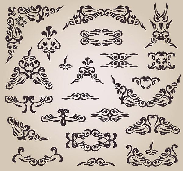 矢量花纹所需点数: 0 点 关键词: 欧式花纹边框设计矢量素材,,欧式图片
