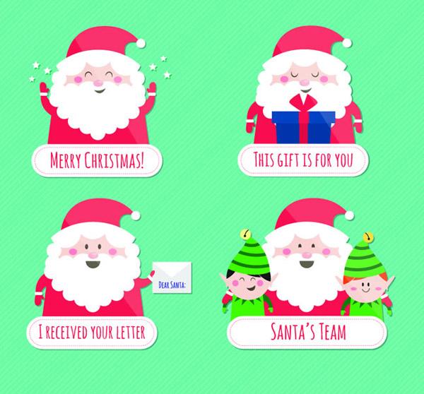 关键词: 可爱圣诞老人标签矢量素材下载,礼盒,礼包,圣诞节,圣诞老人