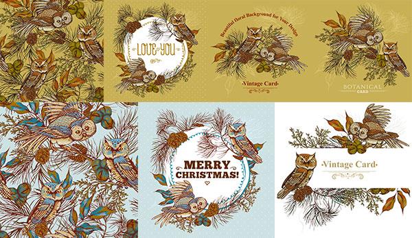 点 关键词: 猫头鹰元素标签矢量素材,标签,元素,卡通猫头鹰,卡通动物