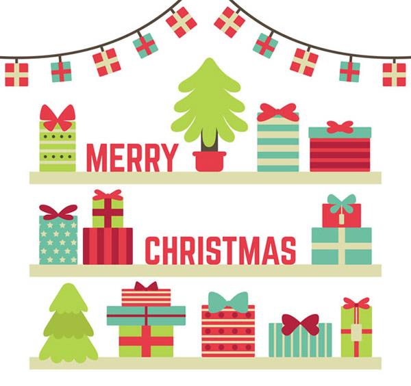 木架上的圣诞礼盒_素材中国sccnn.com