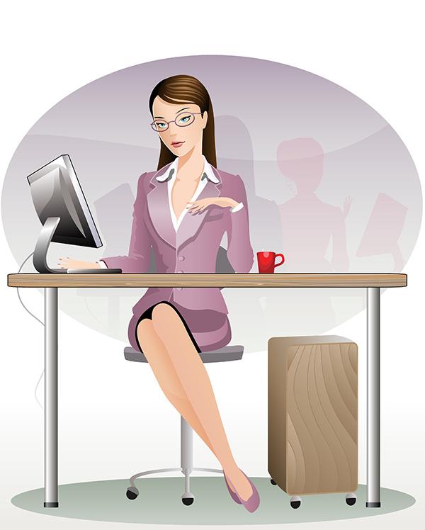 0 点 关键词: 女性白领矢量素材,职业女性,白领商务美女插画,卡通