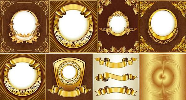 欧式金色花纹边框_素材中国sccnn.com