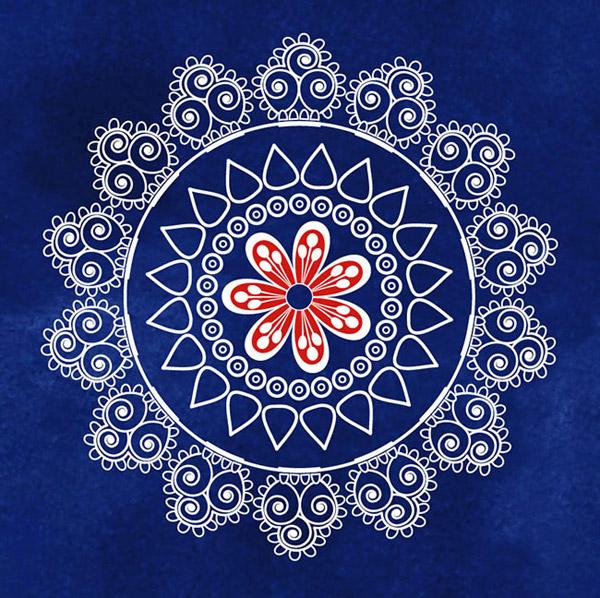 欧式古典圆形花纹图片
