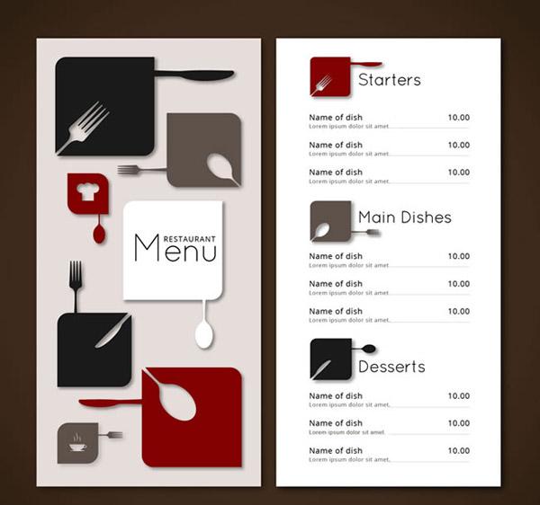 素材分类: 平面广告所需点数: 0 点 关键词: 时尚餐厅菜单设计矢量