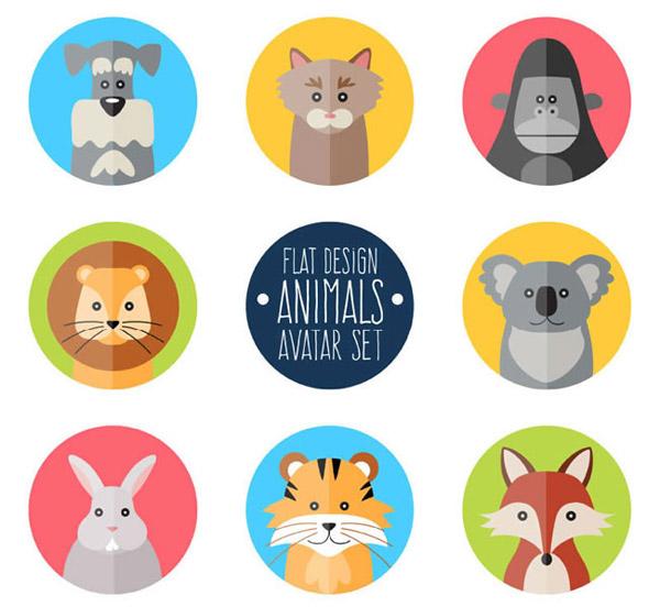 圆形动物图标_素材中国sccnn.com