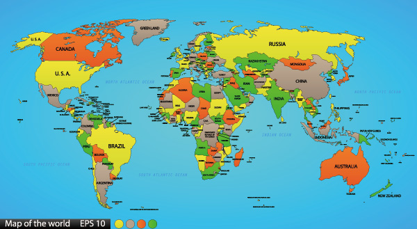 地图模板,矢量地图,矢量世界地图,卡通地图,地图素材,地图元素,地理