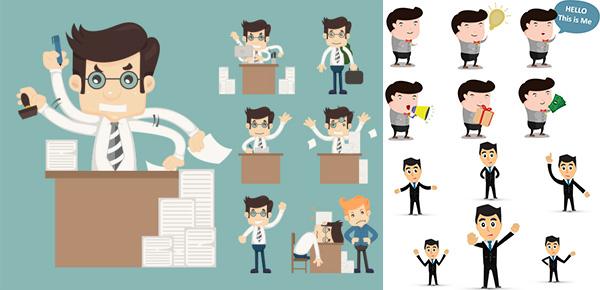 卡通人物,商务人物,手绘人物,手绘小人,商务办公,办公人物,人物形象
