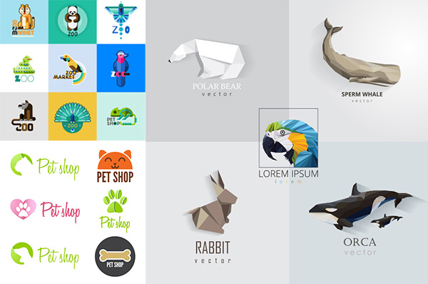 卡通动物形象元素