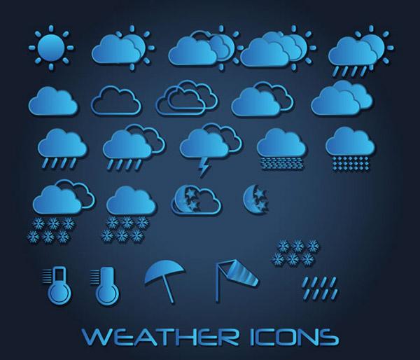 蓝色天气图标