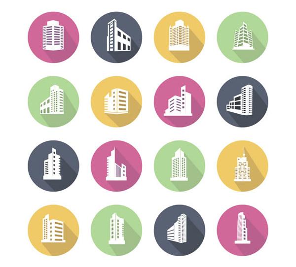 图标矢量素材下载,建筑