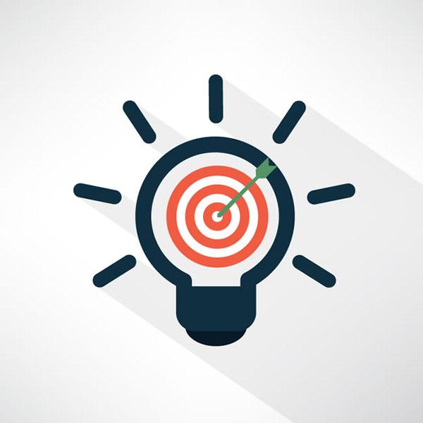 矢量商务金融所需点数: 0 点 关键词: 灯泡形箭靶矢量素材下载,箭,思
