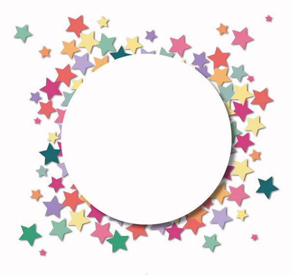 缤纷星星贴纸背景_素材中国sccnn.com图片