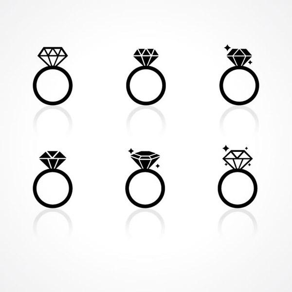 素材分类: 矢量珠宝首饰所需点数: 0 点 关键词: 时尚钻戒矢量素材