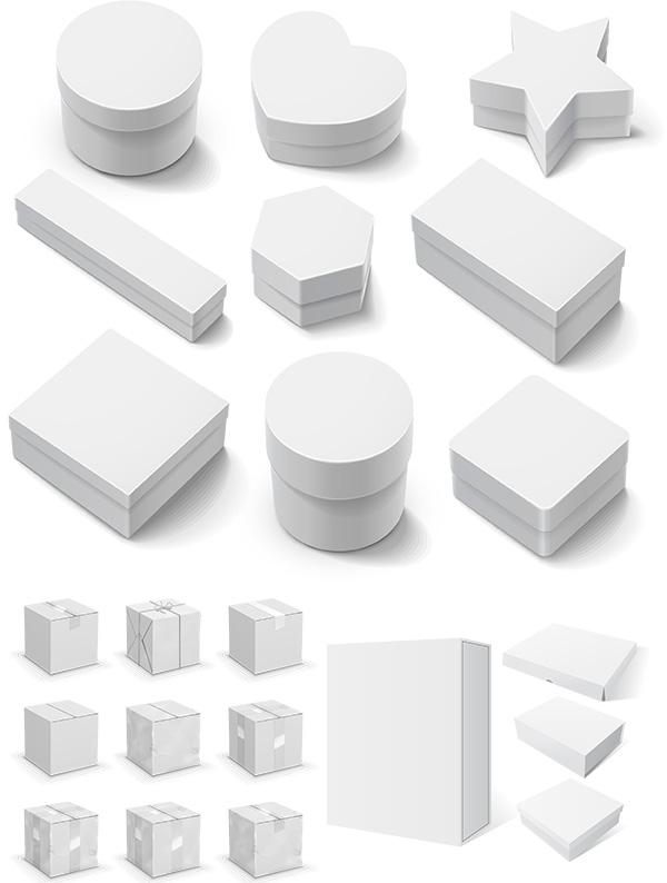 0 点 关键词: 立体空白包装盒设计矢量素材,盒子形状,包装盒,空白
