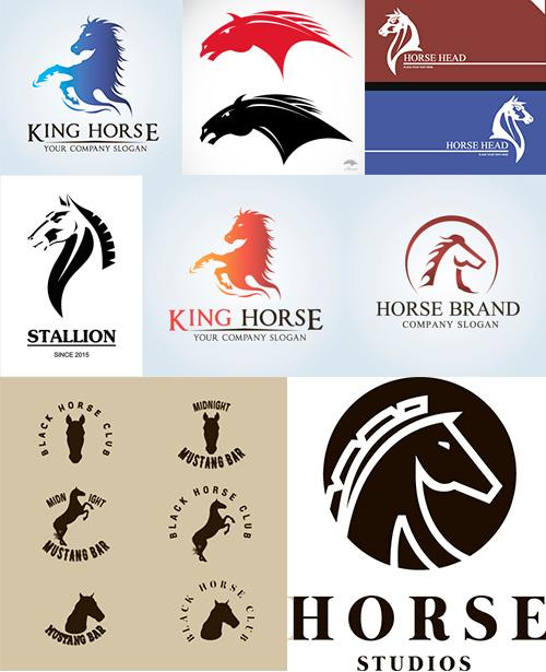 马标志,动物图形标志,动物logo设计,马logo图形标志设计,商标设计