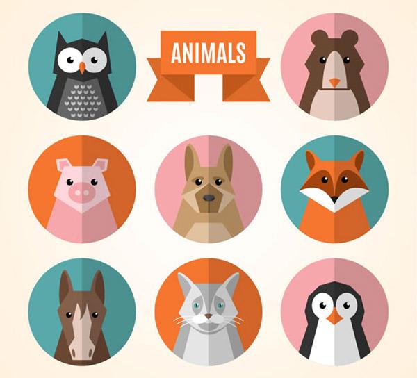 动物头像矢量_素材中国sccnn.com
