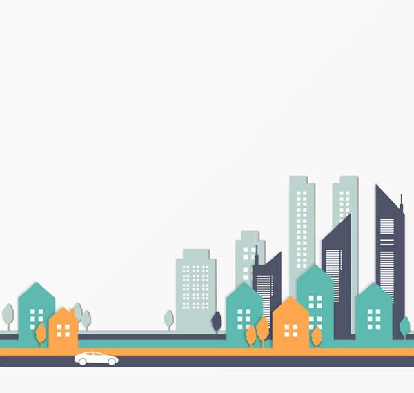 城市建筑剪贴画_素材中国sccnn.com