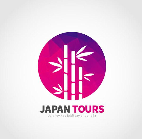 日本竹林旅行标志