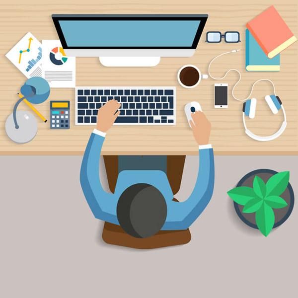 0 点 关键词: 工作台俯视图矢量素材下载,办公桌,木纹,眼镜,电脑