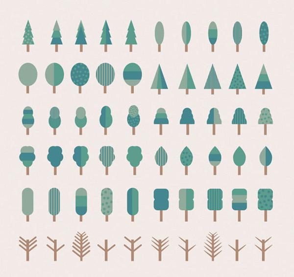 卡通树木图标