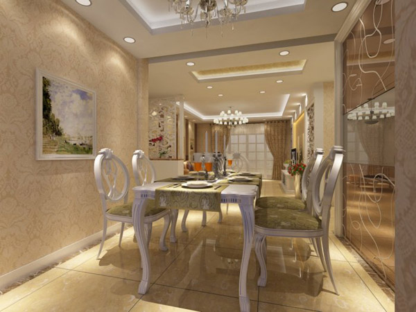 欧式现代餐厅模型_素材中国sccnn.com
