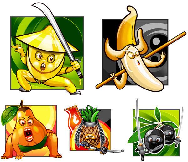 0点 关键词: 卡通水果武士形象矢量素材,卡通,水果,武士,形象,菠萝