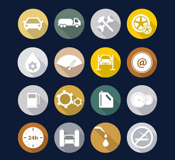 素材分类: 矢量各式图标所需点数: 0 点 关键词: 加油站元素图标矢量