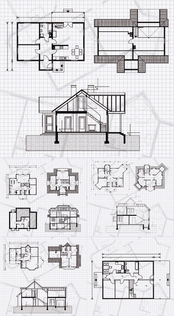 房屋平面图纸_素材中国sccnn.com