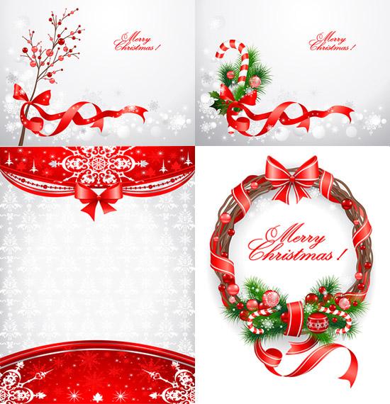 圣诞节花圈矢量 素材中国sccnn Com