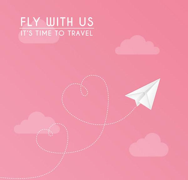 天空中的纸飞机