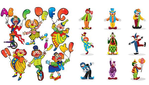卡通小丑人物
