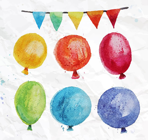 动物简笔画拉气球