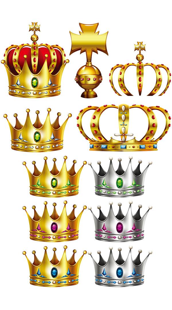 0 点 关键词: 国王王冠设计矢量素材,金色,手绘,皇冠,纹章,网页元素