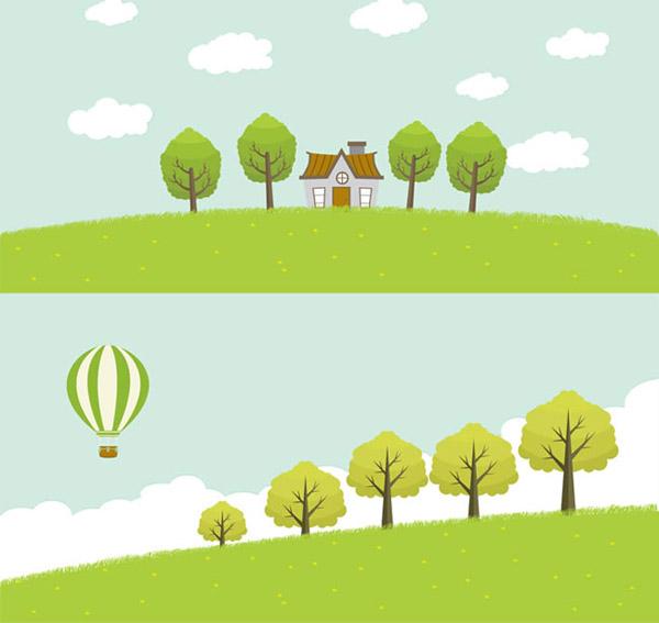 绿色郊外风景