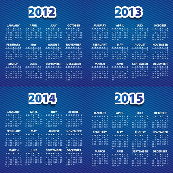 年历日历矢量所需点数