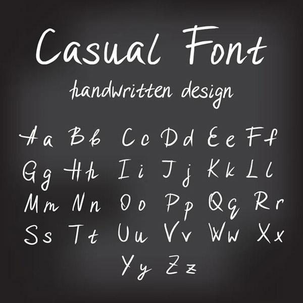 手写大小写字母图片