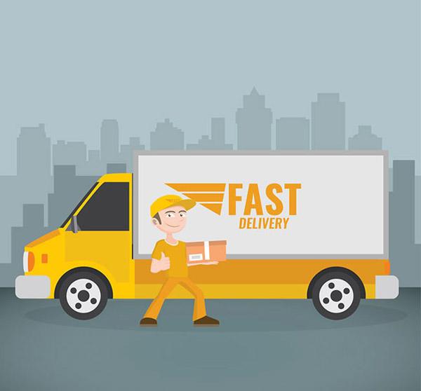 素材分类: 矢量交通所需点数: 0 点 关键词: 卡通快递员和物流车矢量