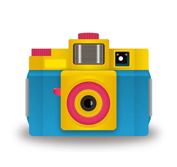 卡通彩色照相机